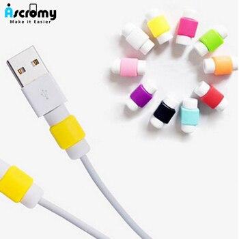 100 шт., красочная Защитная пленка для кабеля Apple iPhone iPad, зарядное устройство для наушников, защитный чехол для кабеля USB
