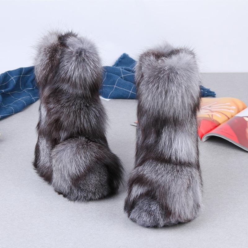 Eskimo Antidérapant Micholediys Semelles Accrue Bottes La Chaud Bleu Main Chaussures 2018 Arrivée Nouvelle Fourrure De Épaisses See À Hiver Botas Chart Neige Renard ZxTAqZO