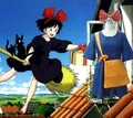 Hayao Miyazaki Kiki's Delivery Service Kiki Dress Cosplay Costume Set Dress + Headwear + Bag Japanese Anime