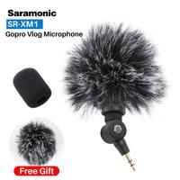 Saramonic SR XM1 Wireless Record Vlog Microphone 3.5MM Jack TRS Plug and Play Mic for Action Camera DSLR Sony RX100 VII Camixer
