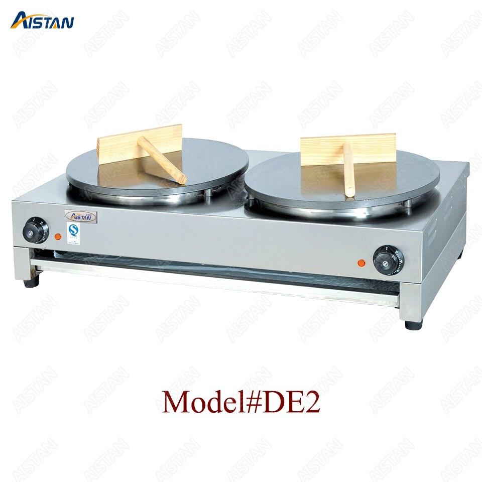 DE1/DE2 electric crepe maker cooker griddle machine for snack maker equipment 2
