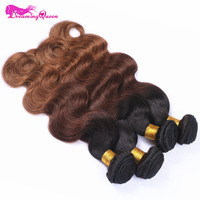#1B /4 /30 Color Body Wave Ombre Brazilian Human Hair Weave Ombre Hair Extensions No Remy Hair Dreaming Queen Hair