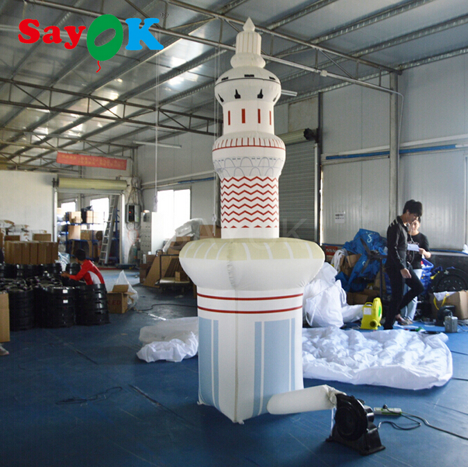Sayok 3m/9.8ft Tall Giant Simulated Inflatable Mosque Inflatable Masjid With Blower For Outdoor Decoration