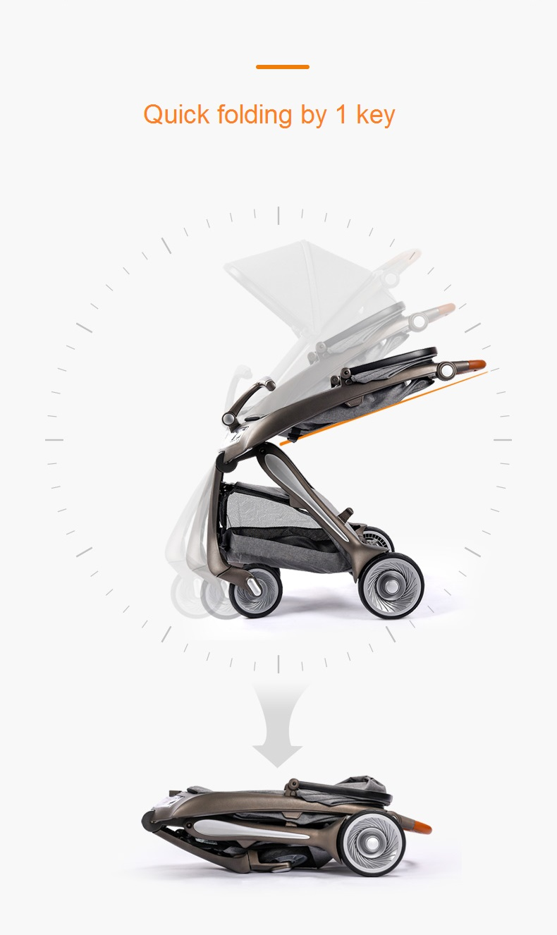 Babysing todo o carrinho de bebê leve do diodo emissor de luz plástico