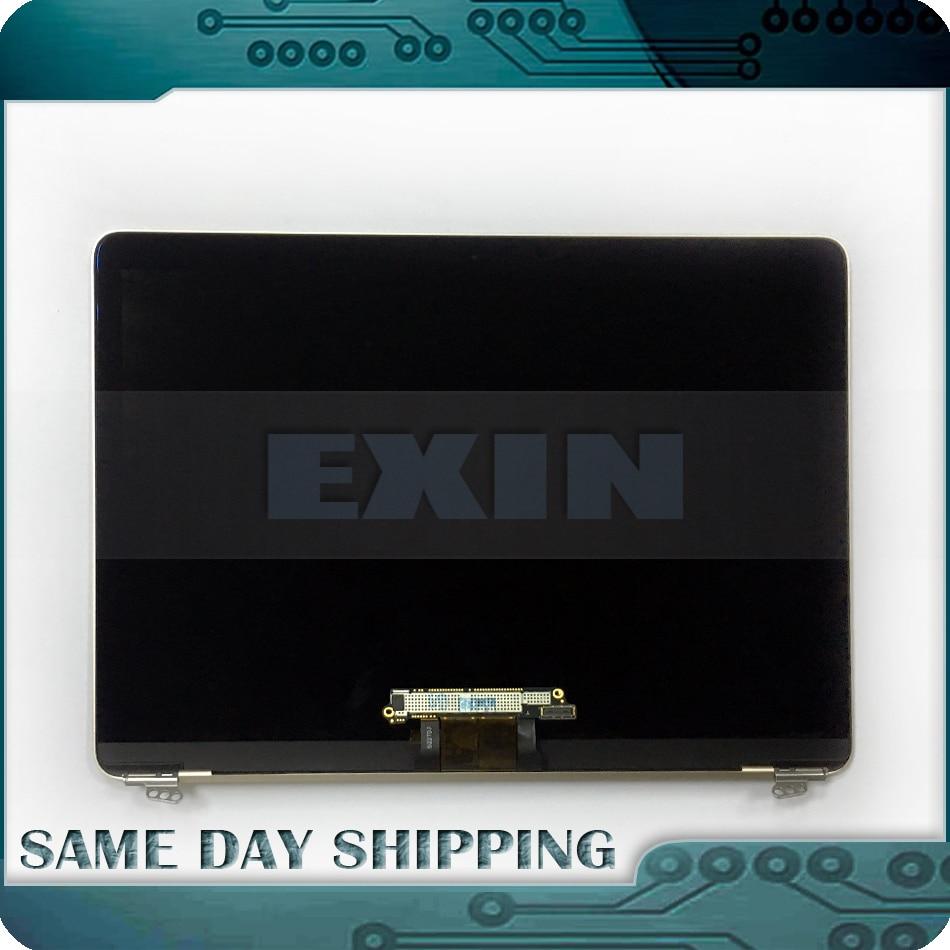 De Oro genuino de plata de oro gris oro Color de rosa A1534 LCD pantalla LED completa asamblea para Macbook Retina 12 2015 de 2016 año 2017