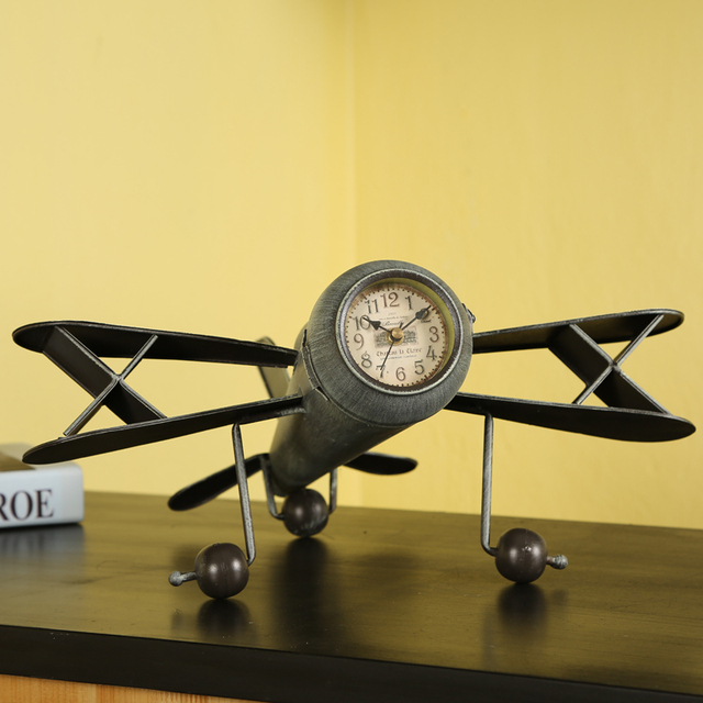 Retro decoration creative aircraft model shop decoration home decor ...