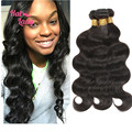 30 32 34 36 38 40 inches Indian Virgin Hair Bundles 3 Bundles 8A Brazilian Virgin Hair Body Wave, Unprocessed Human Hair Weaves