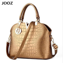 JOOZ 2017 Designer Women Handbags Ladies Leather Bags Female Messenger Crossbody Bag Large Fashion Crocodile Pattern Design