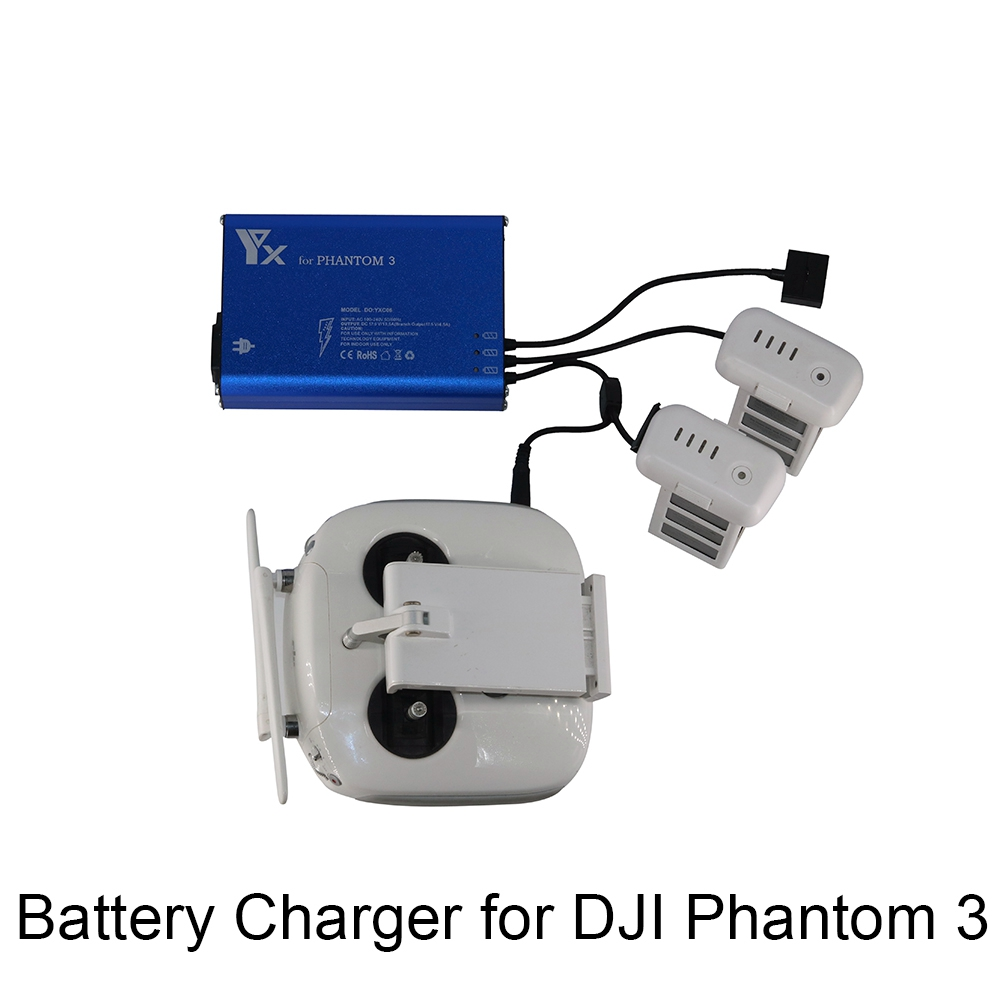 4 in 1 Multi Intelligent Parallel Charger for DJI Phantom 3 Drone Battery Transmitter Charger Fast