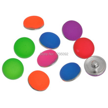 10Pcs Mixed Jelly Color Resin Cabochon 5.5mm Snap Buttons Fit Bracelets Jewelry Making Charms Wholesale 18mm