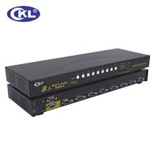 CKL-81S 8 Port Auto Vga-schalter mit Audio 8 in 1 heraus PC Monitor Switcher mit Ir-fernbedienung Rs232-steuerung 2048*1536 450 MHz