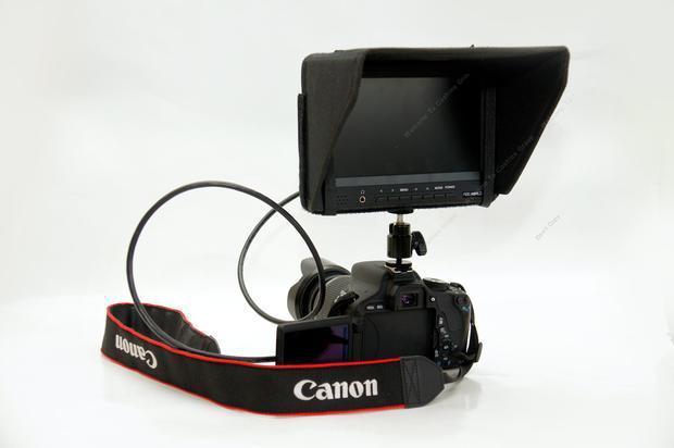 "Frete Grátis! FEELWORLD 7 ""Câmera Campo Monitor de 1080 P HDMI In Out Vídeo Peaking Filtro 5D III"