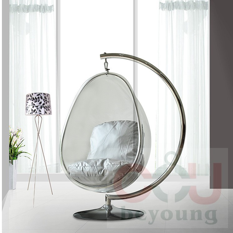 Metal Stents Transparent Acrylic Ball Oval Bubble Chair Bubble Chair  Hanging Chair Swing Balcony Garden In Patio Swings From Furniture On  Aliexpress.com ...