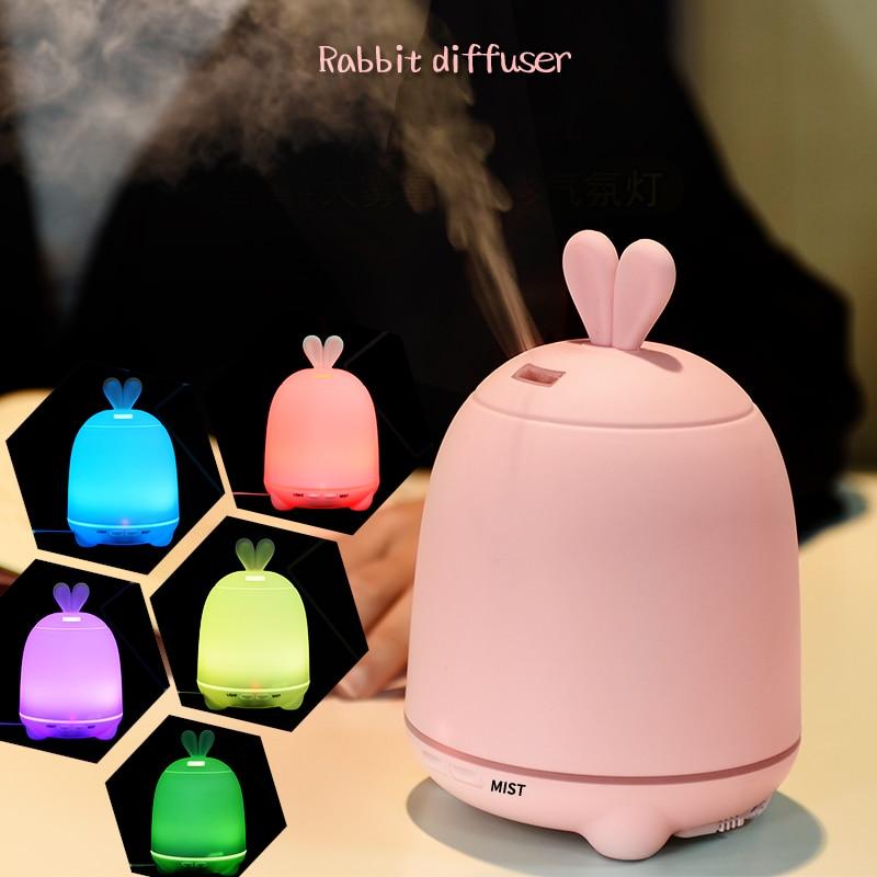 Farbwechsel Ultraschall luftbefeuchter Ätherisches Öl Diffusor Aroma Lampe Aromatherapie Elektrische Aroma Diffusor Hause Nebel Maker-in Luftbefeuchter aus Haushaltsgeräte bei title=