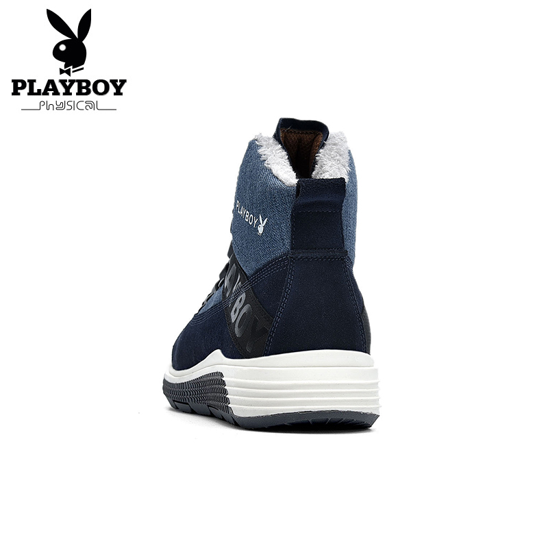 a2976f4fe5decc De Nouveau Noir Travail Chaudes Neige D'hiver Bottes bleu Chaussures  Playboy Hommes Mode Avec Ds87271 ardoisé Pour ...