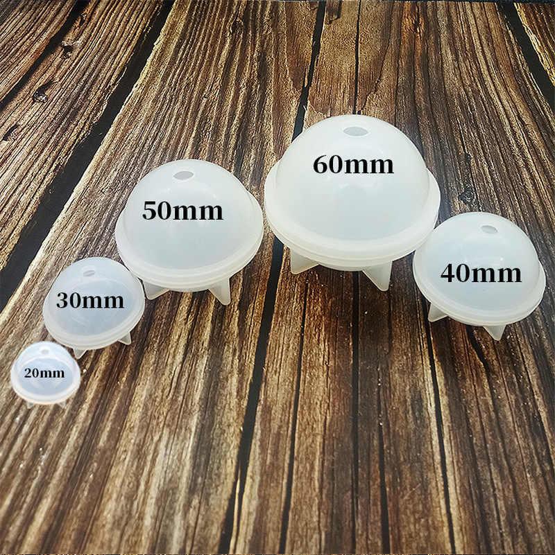 """Силиконовая форма DIY стерео сферические ювелирные изделия делая шары """"сделай сам"""" эпоксидные смолы формы ремесла ручной работы Украшение торта мастикой 20-50 мм"""