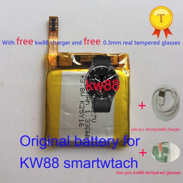 Envio do envio de envio da envio! Relógio inteligente kw88 pro original, relógio inteligente saat recarregável, substituição, 3.8v, bateria de horas