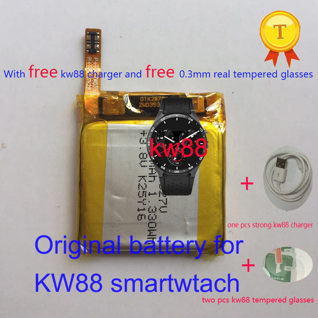 dhl shipping ! original kw88 pro smartwatch smart watch phonewatch saat rechargeable replacement 3.8v clock watch hour battery