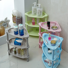 Quality plastic multifunction mini multicolor three layers bathroom shelf bathroom accessories