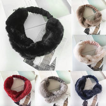 KANCOOCD Women Faux Fur Cross Twist Headband Vintage Elastic Hair Band For Gym Exercise Fitness Ladies Headband(China)