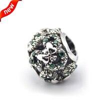 Granos de plata DIY Fit para pulseras Pandora 100% Real 925 Mickey Mouse guirnalda del día de venta al por mayor del encanto FL12314