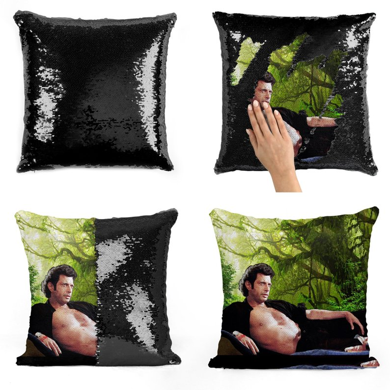 Super Shining Jeff Goldblum Reversible Color Changing Pillow Case Magical Nicolas Cage Cushion Cover/gift For Her Magic Pillow