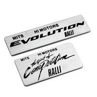 Top Quality Aluminium Stickers Car Logo Auto Emblem Badge For Mitsubishi Motors Ralliart RALLI ART Decal