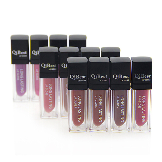 12color/set Lip Gloss Long-Lasting Lipstick Qibest Waterproof Matte Liquid Lip Stick Makeup Long Lasting lip gloss Lipstick