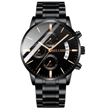 Men's watch luxury brand BELUSHI high-end man business casual watches male waterproof sports quartz wristwatch relogio masculino 5