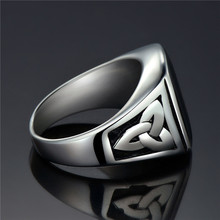 Men's Ring with Black Square Stone