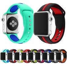 цена на Sport Silicone strap For Apple Watch Band 42mm 44mm 40mm 38mm Iwatch Series 4/3/2/1 Wrist Bracelet Watchband Watch Belt