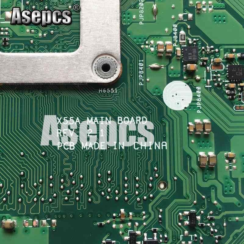 Asepcs X55C 4 ギガバイト Ram メモリ Asus X55C X55CR X55V X55VD ノートパソコンのマザーボード DDR3 60-N0OMB1100-C01 100% テスト