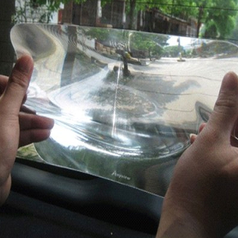 Vehemo 25x20cm Wide Angle Fresnel Lens Auto Car Vehicle Rear Window Parking Reversing Fresnel Lens Sticker Car Sticker doumoo 330 330 mm long focal length 2000 mm fresnel lens for solar energy collection plastic optical fresnel lens pmma material