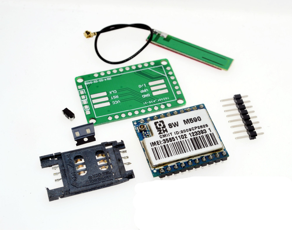 US $2 25 |DIY KIT GSM GPRS M590 gsm module Short Message Service SMS module  for project for Arduino remote sensing alarm-in Integrated Circuits from