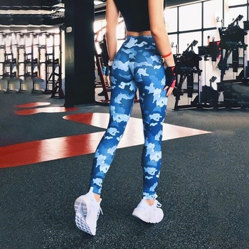 Ins Hot Fashion Workout Leggings For Women High Waist Push Up Legging Camouflage Printed Female Fitness Pants Casual Trousers 6