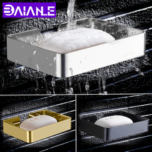 BAIANLE Toile Soap Dish Black Bathroom Soap Dish Wall Mount Stainless Steel Soap Rack Shelf clinique facial soap with soap dish для сухой кожи