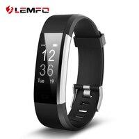 LEMFO ID115HR Plus Inteligentny zespół Bransoletka Pulsometr Krokomierz Fitness tracker Smartband Opaska