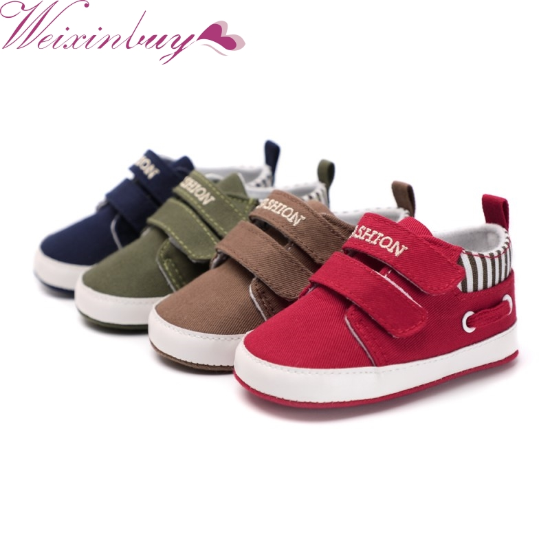 Spring Baby Boys Buckle Strap Shoes Indoor Shoes Soft Sole Bottom Shoes Crib Shoes Autumn First Walkers Soft