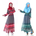 Fashion Adult Casual Acetate Robe Musulmane Turkish Abaya New Muslim Dress Chiffon Robes Arab Clothing for women