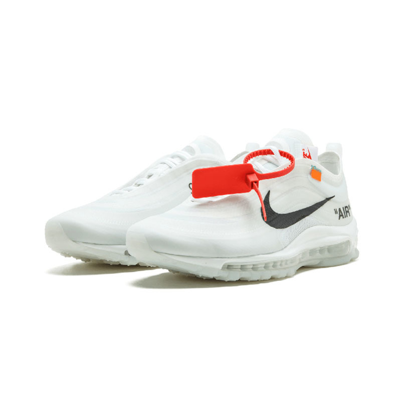 NIKE Air Max 97 OG Off White Mens Cushion And Breathable Running Shoes Sport Sneakers Original New Arrival AJ4585 100