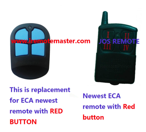 Replacement remote for ECA  newest remote with red button DHL free shipping faac replacement remote control rfac4 dhl free shipping