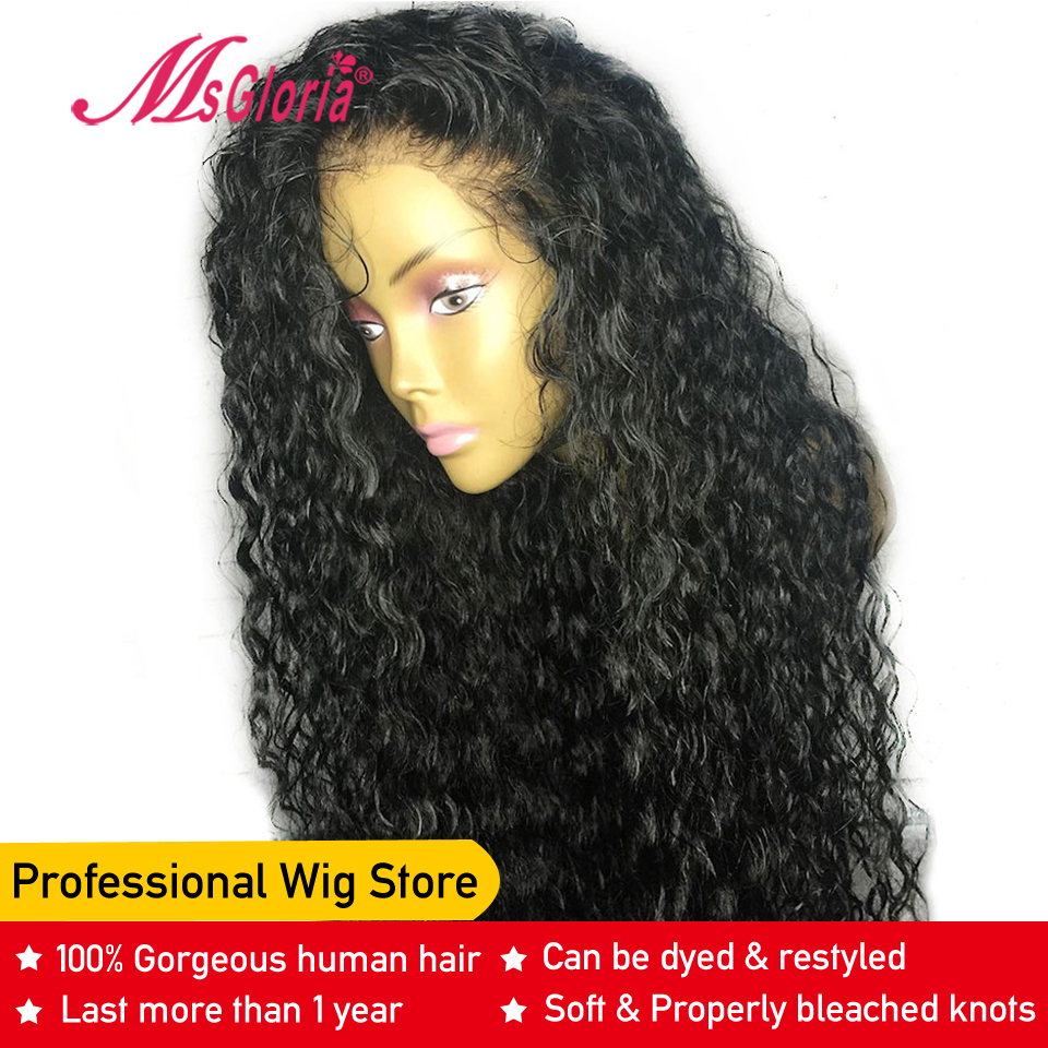 Curly 13 4 Lace Front Human Hair Wigs For Black Women Brazilian Remy Human Hair Wigs