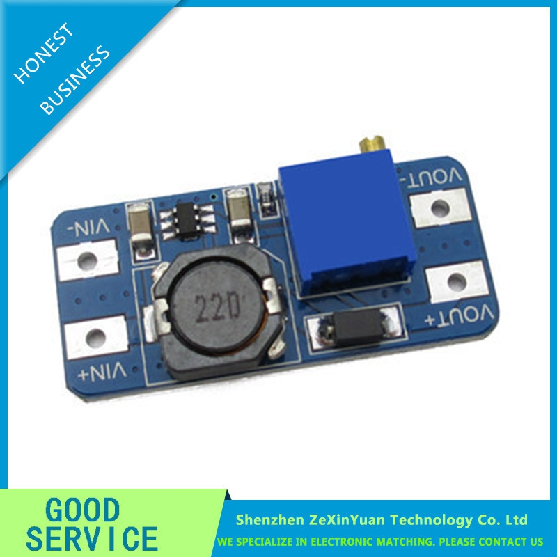 4PCS/LOT MT3608 DC-DC Boost Module 2A Boost Board Input Voltage 2-24V Liter 5/9/12/-28V Adjustable