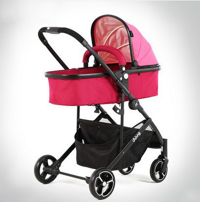 Alta paisagem do portátil carrinho de criança carrinho de Bebê pode sentar pode mentir two-way uma dobrável a partir da chave
