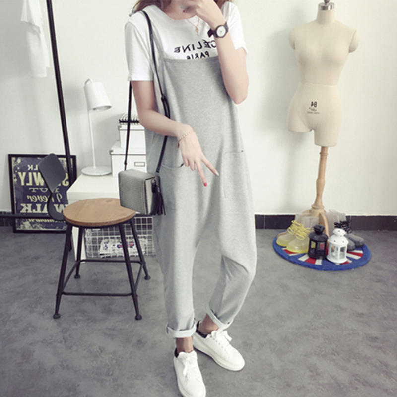 2018 New Maternity Bib Pants Pregnant Trousers Belt Plus Size XXXL Clothes For Women Pregnant Overalls Solid Color Women Pants