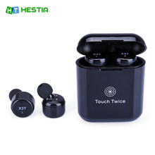 HESTIA TWS X3T Wireless Bluetooth 4.2 Headset Earphone wtih Charger Box Bass X1t X2T Upgraded for iPhone Samsung Android(China)
