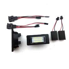 Car LED License Number Plate Light font b Lamp b font 2Pcs 12V 24 SMD Fit
