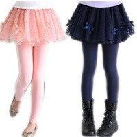 Children Spring Skirts Leggings Girls Skirt Pants Kids Cake Skirts PantsTutu Baby Pants Princess Leggings New