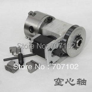 K11 100 MM 3-jaw chuck CNC Router Eixo de Rotação do quarto eixo de Um eixo para a máquina de gravura velocidade que reduz a relação 6:1