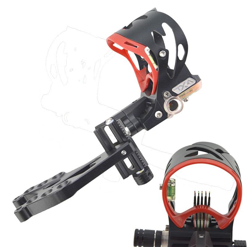 1PC Archery Compound Bow Sight 5 Pin Adjustable Sight Bubble Level for Compound Bow Archery Hunting Shooting стоимость